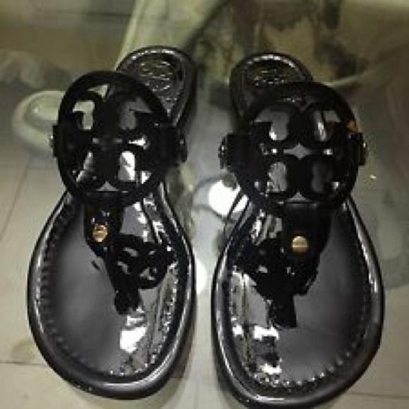 Tory Burch Shoes | Shiny Black Tory